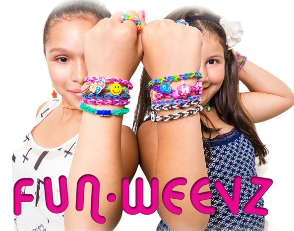 Fun Weevz rubber band loom refills and charms