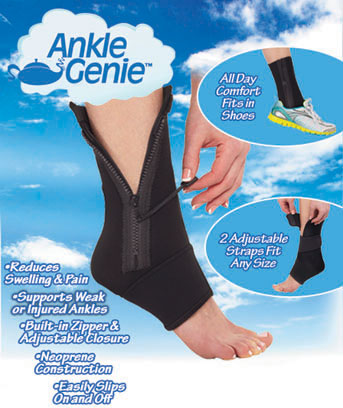 ankle genie compression support sleeve