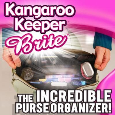 kangaroo keeper brite purse bag organizer