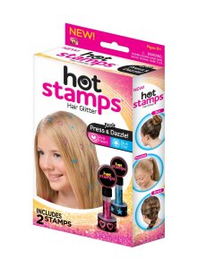 hot stamps glitter designs for hair