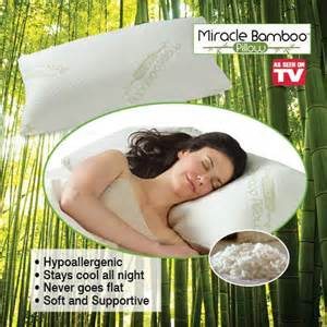 miracle bamboo pillow as seen on tv