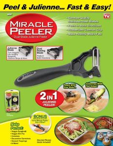 miracle vegetable peeler as seen on tv