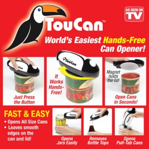 toucan automatic can opener as seen on tv