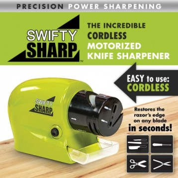 swifty sharp motorized knife sharpener as seen on tv