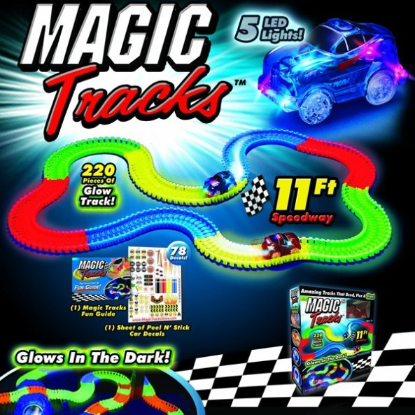 magic tracks glow race track as seen on tv