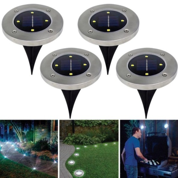 Outdoor Post Eye Light Control: Solar Powered Disk LED Lights