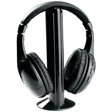 wireless tv headphones black